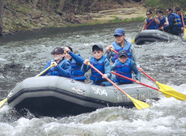 Whitewater rafting in 2007.