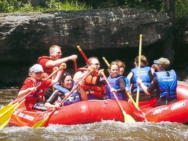 Whitewater rafting in 2008.