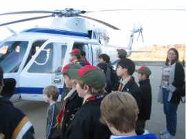 Troop 2295 at Port Authority Helicopter Hangar