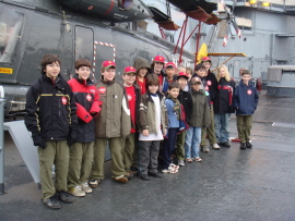 Troop 2295 on the USS New Jersey