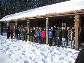 Troop 2295 at Camp Henderson -- photo by ASM Jeff M.