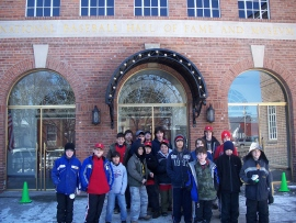 Troop 229 at the National Baseball Hall of Fame in Cooperstown, NY